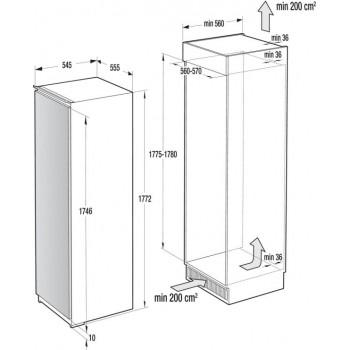 Однокамерный холодильник Asko R31831I